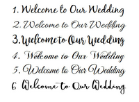 Welcome Wedding Ceremony Wood Sign. Tropical Beach Decor Shoes Optional signage, Gift for Couple-iDecor4you