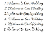 Welcome Wedding Sign, Beach Wedding Decor, Nautical wedding, Wood Directional Sign-iDecor4you