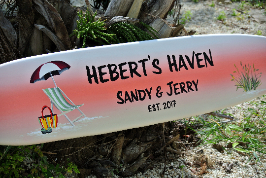 Family Name surfboard sign. Lake House decor. Housewarming Gift for Parants-iDecor4you