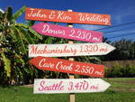 Garden Wedding Decor Wood Directional Mileage Sign, Outdoor Wedding Rustic Decoration-iDecor4you