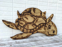 Best Friend House wall decor. Large Wood Turtle, Beach House Decor, Wooden Turtle Wall Art, Housewarming gift, Turtle Wood burning sign.