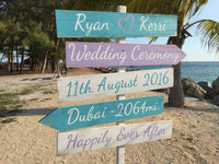 Wedding Beach Sign rustic Happily Ever After Directional Wedding Sign gift