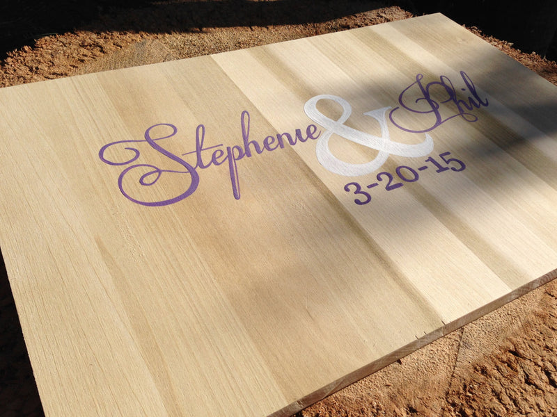 Newlywed  Gift Wedding Guestbook Wood Sign with Decorative Pen, Wedding Guest book Ideas, Alternative Guest Book