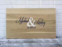 Wedding Guest book Alternative, Wooden Guestbook sign with Pen. Signature board for Wedding gift idea
