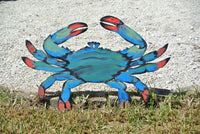 Large Wood Blue Crab Rustic Decor. Wall Art, Family Gift idea, Beach house decor