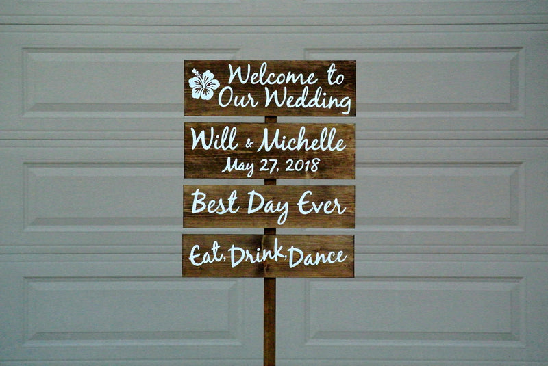 Rustic wedding decor. Welcome to Our wedding wood sign.