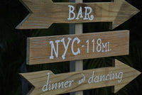 Rustic wedding decor. Welcome Directional sign. Destination wedding Ceremony sign.