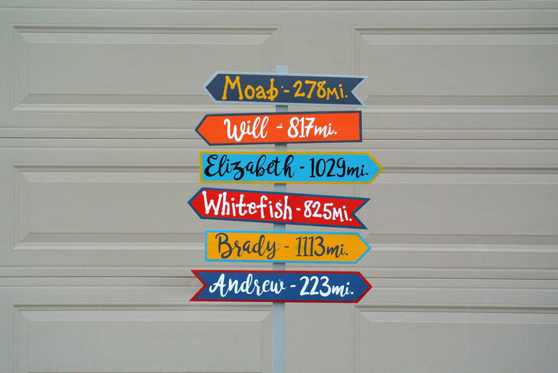 Family Reunion Yard Sign. Directional wood sign personalized. Housewarming new home gift