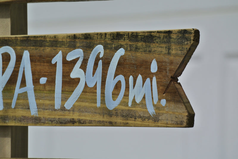 Directional Sign wood. Destination wooden sign post. Family Gift for Home