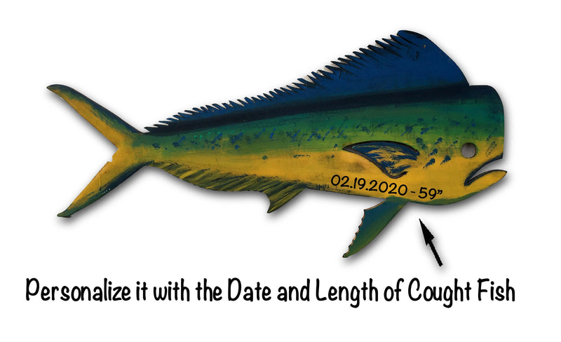 Mahi Mahi Fish Wall art Wooden Beach House decor. Gift for Dad