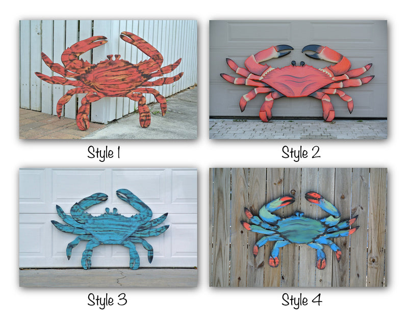 Seafood Restaurant Red Crab Decor. 3D Effect Wood sign for business.