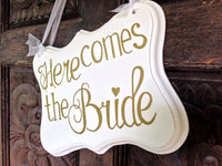 Ring Bearer Sign, Daddy Here Comes Mommy, Rustic Wedding Decor