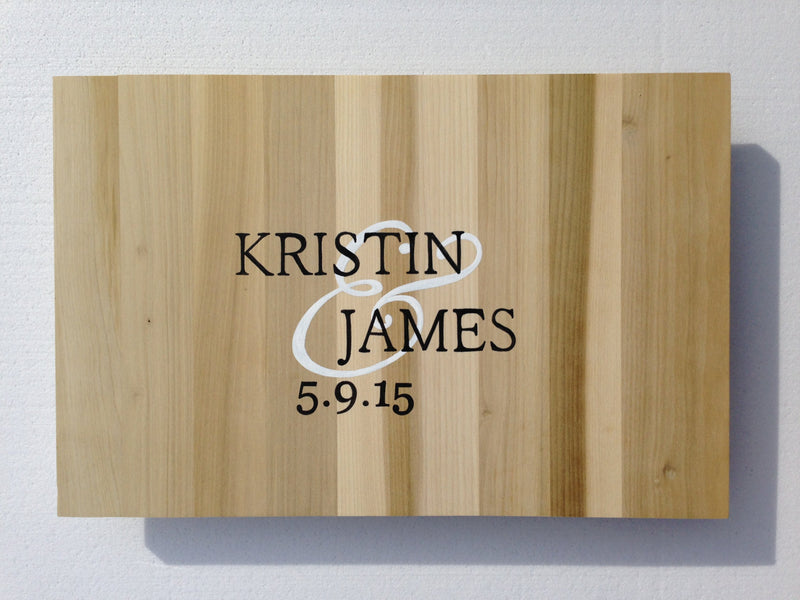 Newlywed  Gift Wood Guestbook Alternative Sign, Unique Wedding Guest book gift idea  Comes with matching Sharpie Pen!!!