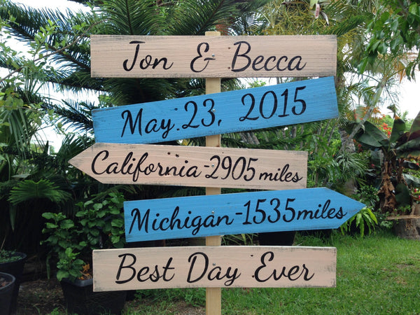 Rustic Wedding Directional Location Sign, Best Day Ever Shoes Optional Ceremony Sign, Beach Wedding Decor, Unique gift idea
