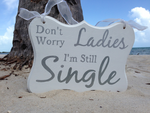 Kid's Ribbon Wedding Sign, I'm Still Single Kids Aisle Announcing Wedding ring bearer sign.-iDecor4you