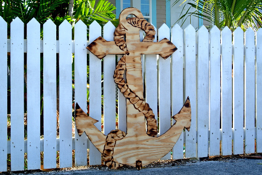 Large Wood Anchor sign. Patio decor idea. Outdoor Anchor Housewarming gift. Family Oasis sign.-iDecor4you