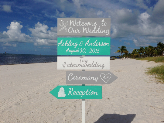 Mint Wedding Welcome Sign, Beach Wedding Decor, Shoes Optional Ceremony Signage-iDecor4you