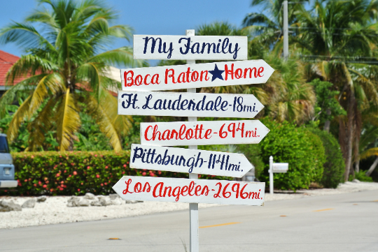 My Family Destination Sign, Rustic Directional Mileage Sign, Home Decor, Custom unique Family/Mother's Day gift idea.-iDecor4you