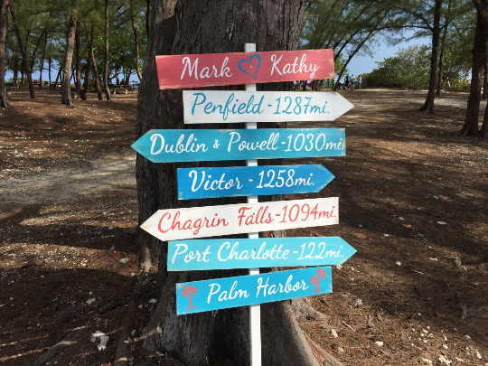 Nautical Arrow Signage for Wedding, Beach Ceremony Destination Location Sign, Wedding gift idea.-iDecor4you