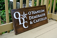 Outdoor Business Company Logo Advertising Signage. Carved Business Name wood sign-iDecor4you