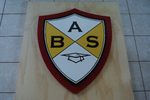 Personalized Wood Business 3D sign. Signage for Business. Custom Carved Wooden Outdoor School/College Logo. School Name Wooden Plaque-iDecor4you