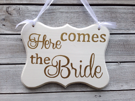 Ring Bearer wedding Sign, Flower girl wedding sign, Wight and Gold wedding sign, Cottage alegant Wedding Decor-iDecor4you