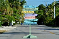 Rustic Beach Directional Sign, Wedding Ceremony Wood Decorations, Wedding Gift Idea for Couple-iDecor4you