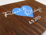 Rustic Wedding Guest Book, Alternative Wood Sign, Custom Guest Book with Heart and decorative pen-iDecor4you