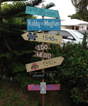 Rustic Wooden Directional Beach Wedding Decor, Lake House Decoration, Couple gift idea.-iDecor4you