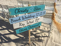 Rustic Wooden Wedding Decor Nautical Sign, Shoes Optional Directional gift for couple.-iDecor4you