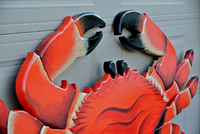"Seafood Restaurant 96x48"" Red Crab 3D sign. Restaurant decor sign. Custom seafood sign.-iDecor4you"
