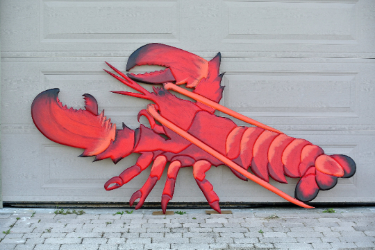 "Seafood Restaurant Wood Large 96x48"" Lobster 3D sign. Restaurant decor signage-iDecor4you"