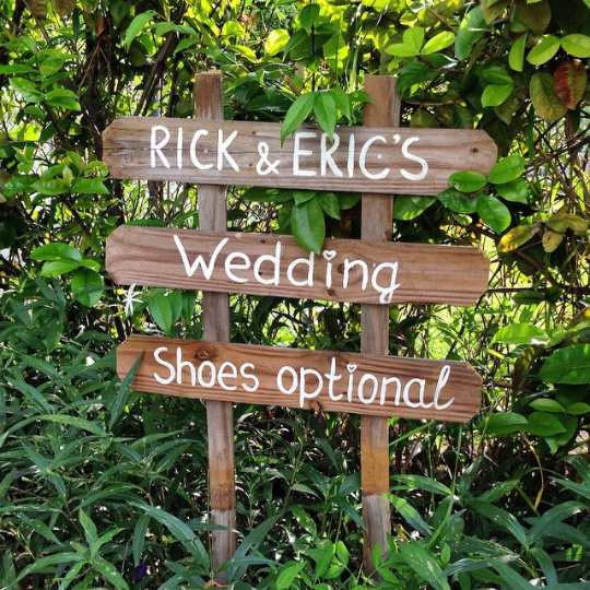 Shoes Here, Vows there, Love Everywhere Rustic Beach Wooden signage for wedding ceremony.-iDecor4you