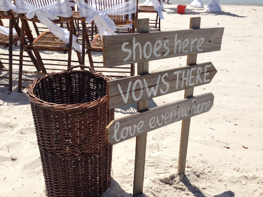 Shoes Here wedding sign, Love Everywhere wedding sign, Rustic Beach Wedding Sign, Nautical Wedding Beach Decor.-iDecor4you