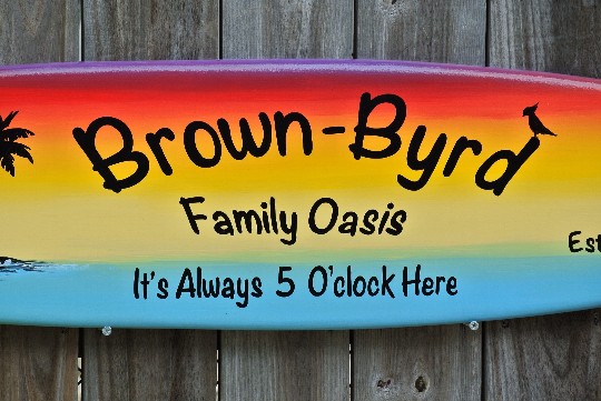Tiki bar Decor. Family Oasis wood sign. Beach House wood gift. Its 5 O'clock somewhere.-iDecor4you