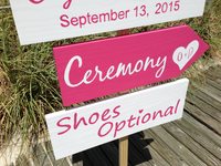 Wedding Welcome Sign, Ceremony Shoes Optional Signs, Pink and Wight Wedding Decor, Starfish Decoration Wedding Sign-iDecor4you