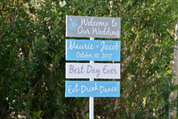 Wedding Welcome Sign, Hawaiian Beach Wedding Decor, Best Day Ever Directional Sign-iDecor4you