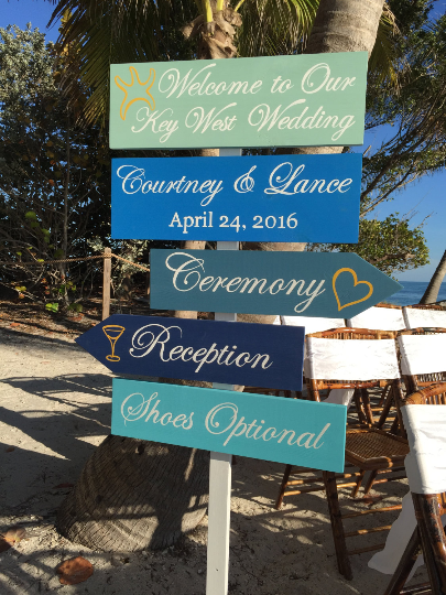 Welcome Wedding Sign, Beach Wedding Decor, Shoes Optional Reception Sign-iDecor4you