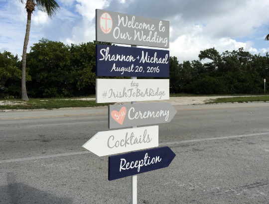 Welcome Wedding Sign, Ceremony Directional Signage, Personalized Gift for Couple-iDecor4you