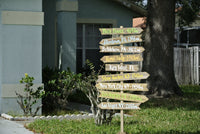 country wooden direction sign