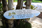 Wood surfboard decor. Friends custom gift idea, Palm Tree Sign, Tiki bar Pool decorative sign.-iDecor4you