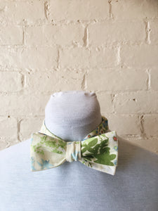 Bow Tie - Green and Blue Floral
