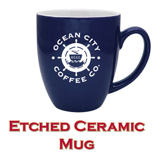 Etched Ceramic Mug Introductory Price of