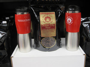 Small Coffee Gift Box, (2) OCCC Travel Cups & 1lb Coffee