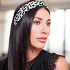 Black + White Leopard Knot Headband