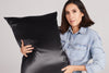 pillowcase - black - queen - zippered