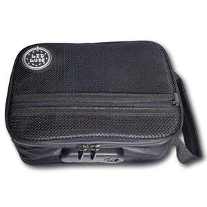 Lid Lube Stash Bag Smell Proof Water Resistant Charcoal Lined Zipper and Handle with Customizable Lock