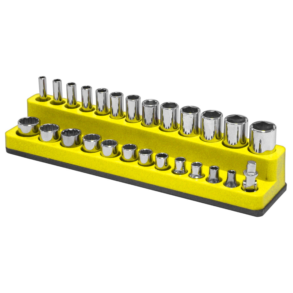 Mechanics Time Saver 723 1//4 in Drive Magnetic Yellow Socket Holder   4-14mm