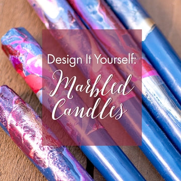 Romantic Luxe: Marbled Candles Tutorial