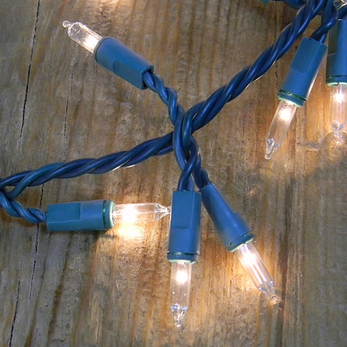 Garland Mini String Lights, 18 feet, Green Wire, Plug In, Warm White